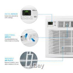 10000 BTU Remote Control Air Conditioner 450 Sq Feet 115V Washable Filter White