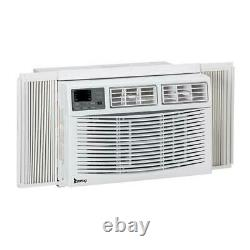 10,000BTU Window-Mounted Air Conditioner LED Display Remote Control Timer White