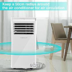 10,000 BTU Portable Air Conditioner Cooling Dehumidification Fan WithRemote 3 Mode