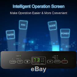 12000 BTU Air Conditioner Dehumidifier Function Portable withRemote Control White