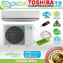 12000 BTU Air Conditioner Mini Split 19 SEER INVERTER AC Ductless Heat Pump 220V