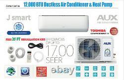 12000 BTU Ductless Air Conditioner, Heat Pump Mini Split 115V1Ton no-WF 25ft Kit
