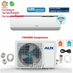 12000 BTU Ductless MINI Split Air Conditioner with Heat Pump (WiFi) 115V 17 SEER