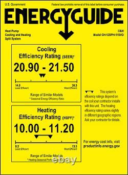 12000 BTU Ductless Mini Split Air Conditioner Heat Pump 21.5 SEER 115V + Kit