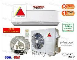 12,000 BTU Ductless Air Conditioner, Heat Pump Mini Split 220V 1 Ton With/KIT