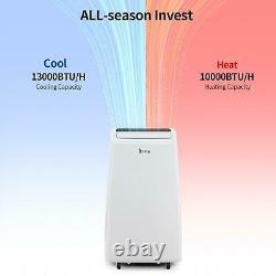 13000BTU Air Conditioner 4-in-1 Dehumidifier Fan Heat AC Unit with Remote Control
