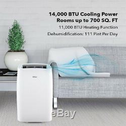 14000 BTU Self Evaporation Portable Air Conditioner 1050W Heating Dehumidifier