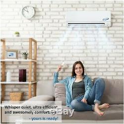 24000 BTU 21 SEER Ductless Mini Split Air Conditioner Heat Pump 2 Ton AC