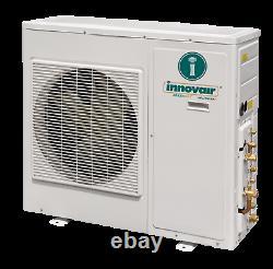 24000 BTU Dual Zone Ductless Mini Split Air Conditioner Heat Pump SEER 21 Multi