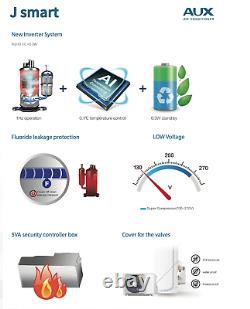 24000 BTU Ductless Air Conditioner INVERTER Heat Pump MiniSplit WIFI 2 Ton 25 ft
