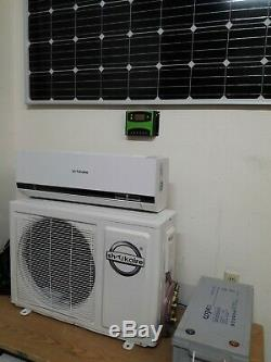 24 VDC Solar Off Grid 9000 BTU Battery and Ductless Mini Split Air Conditioner