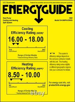 36000 BTU Ductless Mini Split Air Conditioner Heat Pump 16 SEER 230V + Kit