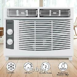 5,000BTU Window Air Conditioner Cooler Dehumidifier Fan Cooling Area 150 sq. Ft