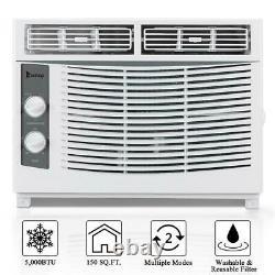 5,000 BTU Window Air Conditioner AC Cooler Cooling Dehumidifier Fan 150 Sq. Ft