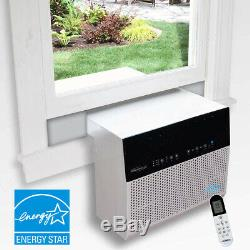 6000 BTU Saddle Window Sill Air Conditioner, 275 Sq Ft Room Low Profile Home AC
