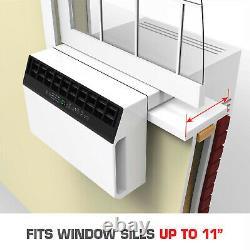 8000 BTU Saddle Window Air Conditioner, 375 SqFt Low Profile Energy Star AC Unit