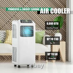 8,000 BTU Portable Air Conditioner & Dehumidifier Function Remote with Window Kit