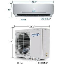 9000 BTU Aircon Mini Split AC Air Conditioner Heat Pump 22 Seer 220V 400 SQ FT