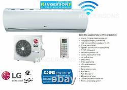 9000 BTU LG Ductless Mini Split Air Conditioner SEER 23 COOL/HEAT BUILT in WIFI