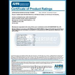 AUX MINI Split Air Conditioner Ductless Heat Pump System 12000 BTU 115V WiF 25F