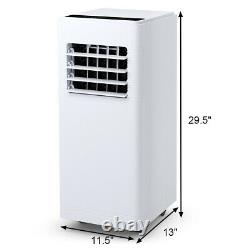 Costway 12000 BTU Air Conditioner Dehumidifier Function Portable withRemote White