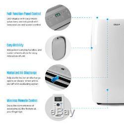 DELLA 12,000 BTU Portable Air Conditioner Dehumidifier Energy Saving Window Kit