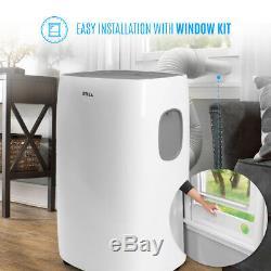 DELLA 14,000 BTU Portable Air Conditioner Dehumidifier AC Remote Window Kit