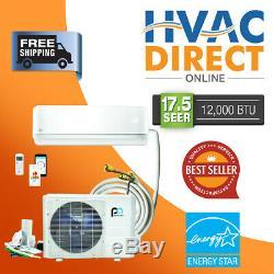 DIY Mini-Split Air Conditioner Heat Pump, Quick Connect, 12,000 BTU 17.5 SEER