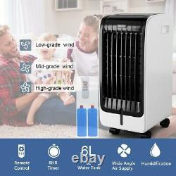 Evaporative Portable Air Conditioner Cooler Fan with Remote Control 2 Ice Boxes