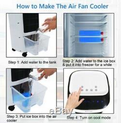 Evaporative Portable Air Conditioner Cooler Fan with Remote Control Dehumidifier