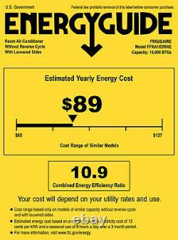 Frigidaire 10000 BTU Window Air Conditioner, 450 Sq Ft Compact Room Home AC Unit