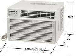 GE 11800 BTU Air Conditioner with 8700 BTU Heat, Window or Thru-Wall Home AC Unit