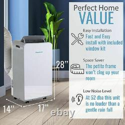 Keystone 13,000 BTU (8,000 BTU DOE) Portable Air Conditioner with Dehumidifier