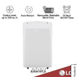LG 8,000 BTU Portable Air Conditioner, 115-Volt with Dehumidifier LP0817WSR