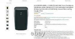 LG LP0821GSSM Black Portable Air Conditioner