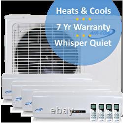 Multi 4 Zone Mini Split Air Conditioner Heat Pump 9000 12000 12000 12000 BTU
