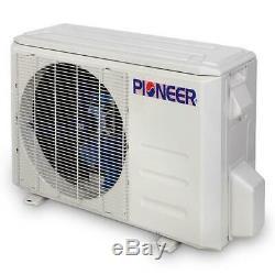 Pioneer 12,000 BTU 19 SEER 115V Ductless Mini-Split Air Conditioner Heat Pump