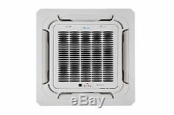 Senville 9000 BTU Ceiling Cassette Air Conditioner with Mini Split Heat Pump