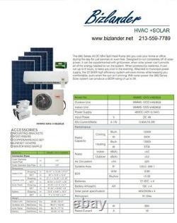 Solar DC Mini Split Air Conditioner Heat Pump YMGI System 12000 BTU 48V