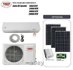 Solar DC Mini Split Air Conditioner Heat Pump YMGI System 9000- 24000 BTU