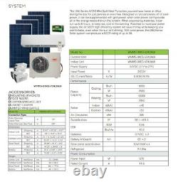 Solar DC Mini Split Air Conditioner Heat Pump YMGI System 9000 BTU 24V Ductless