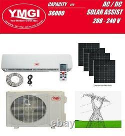 Solar Hybrid Powered Mini Split Ductless Air Conditioner YMGI 220V