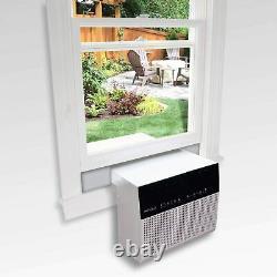 Soleus Air 6,000 BTU 3-Speed Saddle Window Air Conditioner with Dehumidifier