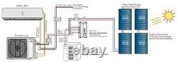 YMGI 12000 BTU Hybrid Solar Ductless Mini Split Air Conditioner heat pump 220V