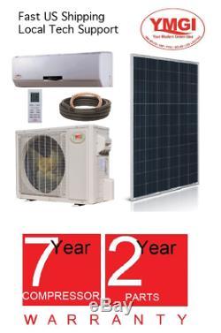 YMGI 1.5 Ton 18000 BTU SOLAR ASSIST DUCTLESS MINI SPLIT AIR CONDITIONER MNJ776