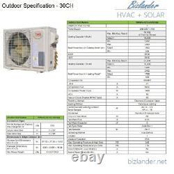YMGI 30000BTU12K+18K DUAL ZONE DUCTLESS MINI SPLIT AIR CONDITIONER Heat Pump