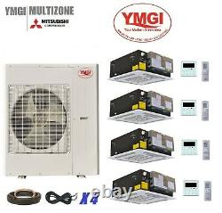 YMGI 54000 BTU FOUR ZONE DUCTLESS MINI SPLIT AIR CONDITIONER HEAT PUMP 4 Zone