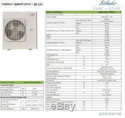 YMGI 60000 BTU 5 Ton 5 Zone Ductless Mini Split Air Conditioner Heat pump Js