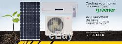 YMGI Solar Assist 12000 BTU Ductless Mini Split Air Conditioner W Solar Panel 63