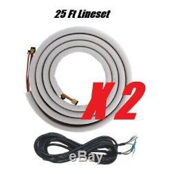 Ymgi 48000 Btu 24k+24k Dual Zone Ductless Mini Split Air Conditioner Heat Pump